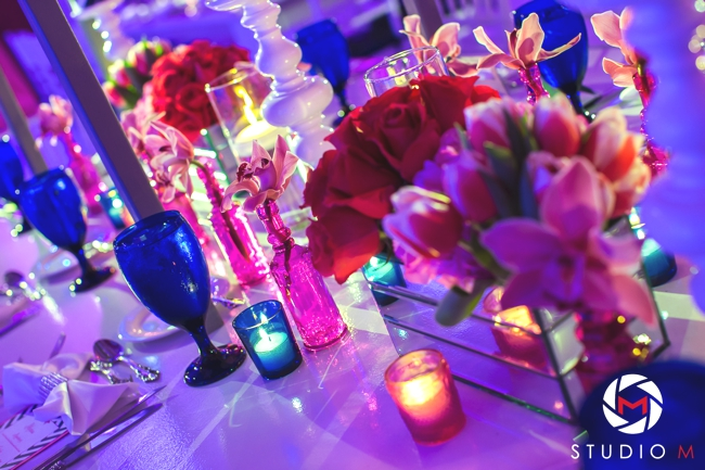 fuchsia-orchid-navy-stemware-bat-mitzvah-fuchsia-vase-decor-sara-renee-events