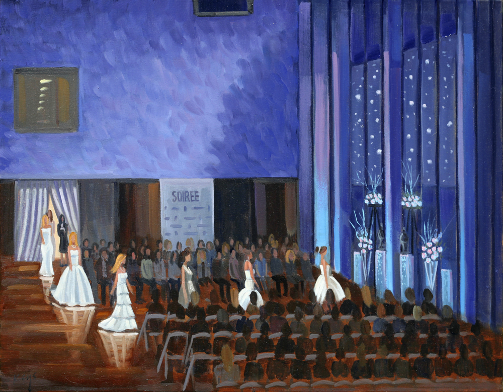Soiree Fashion Show | 24 x 30 in. Oil on Canvas | The Mint Museum, Charlotte, NC