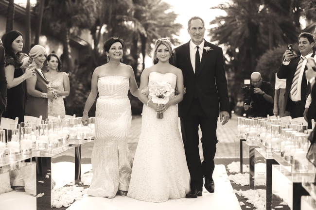 father-and mother-walk-bride-down-the-aisle-the-breakers-palm-beach-wedding-carolina-herrera-gown