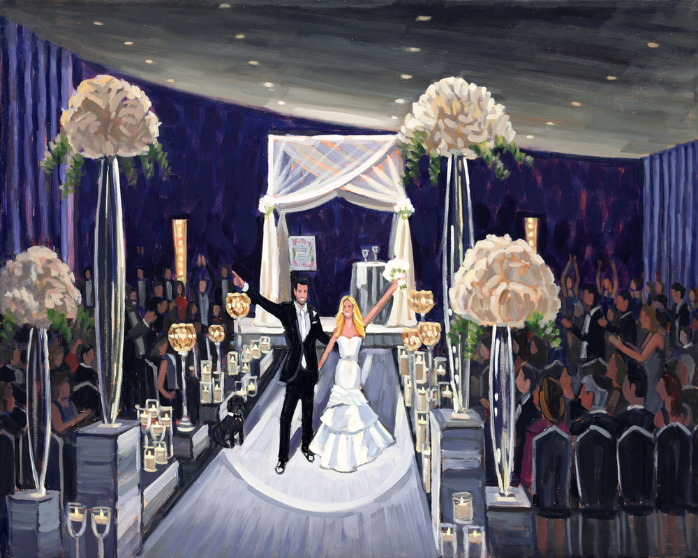 hotel sofitel chicago water tower chicago illinois 24 x 36 in live wedding painting