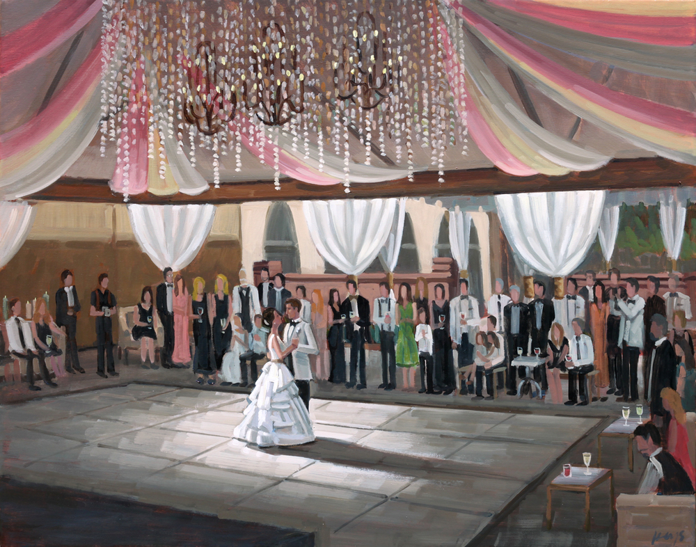 The William Aiken House | Live Wedding Painting