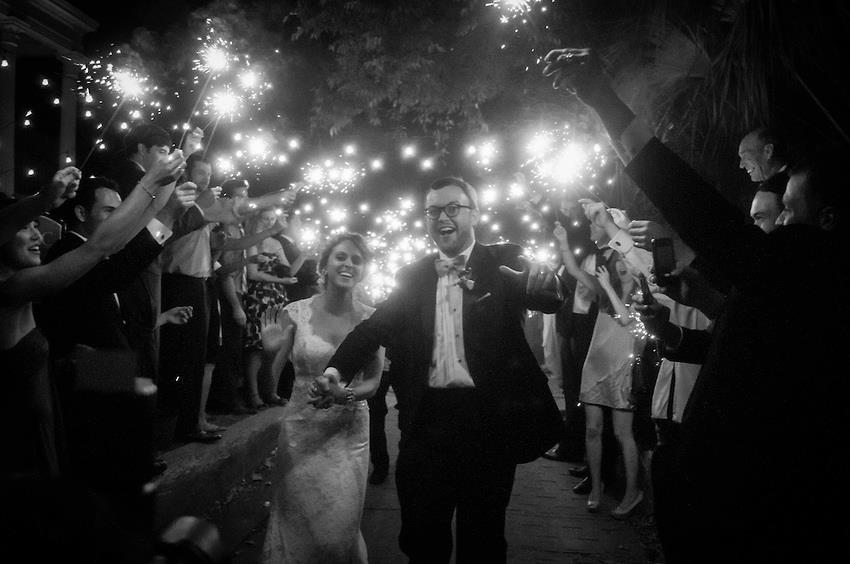wickliffe-house-wedding-unique-charleston-historic-venue-sparkler-grand-exit-bride-and-groom-wedding-painting-wed-on-canvas