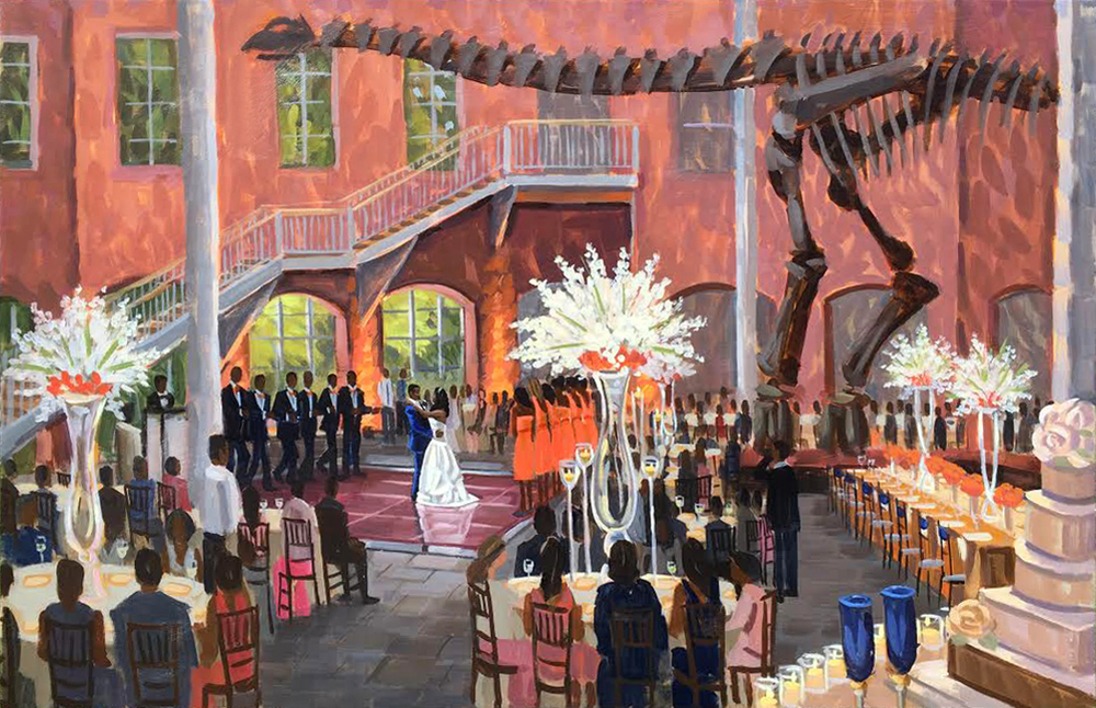 The Fernbank Museum of Natural History | Live Wedding Painting