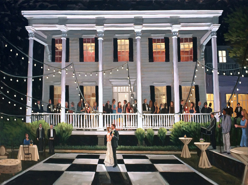 Charleston Wedding Painting