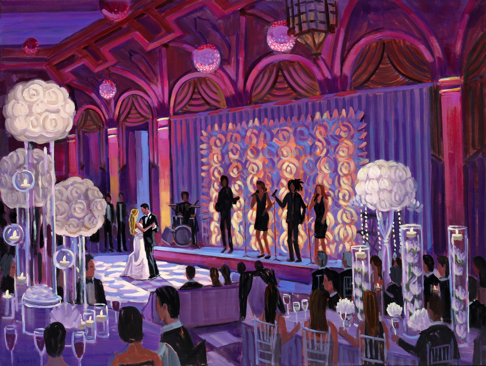 Live Wedding Painting at The Breakers, Palm Beach, Florida