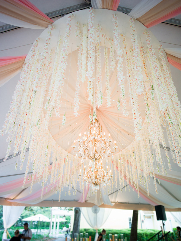 hanging-flower-chandelier-charleston-wedding-tent-william-aiken-house-wedding-artist
