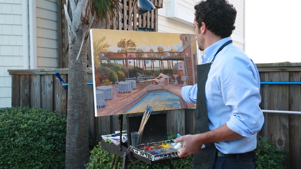 topsail-island-wedding-painter-ben-keys-beach-house-wedding-artist-wed-on-canvas