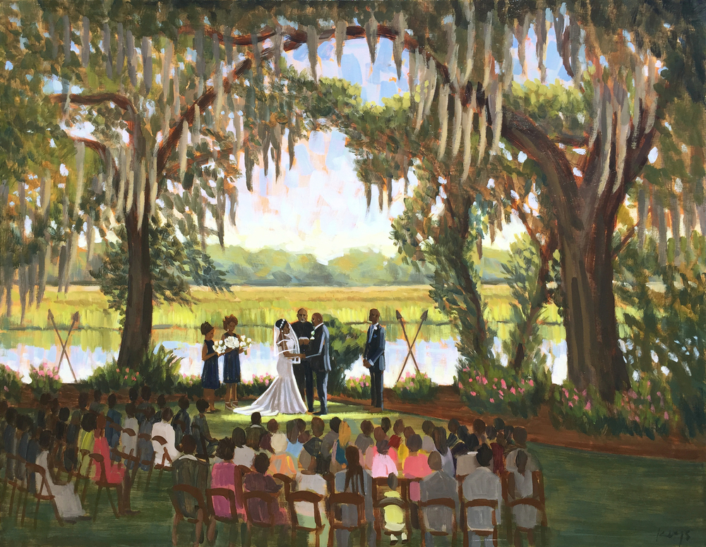 LaToya and Robert | 24 x 30 in. Live Wedding Painting