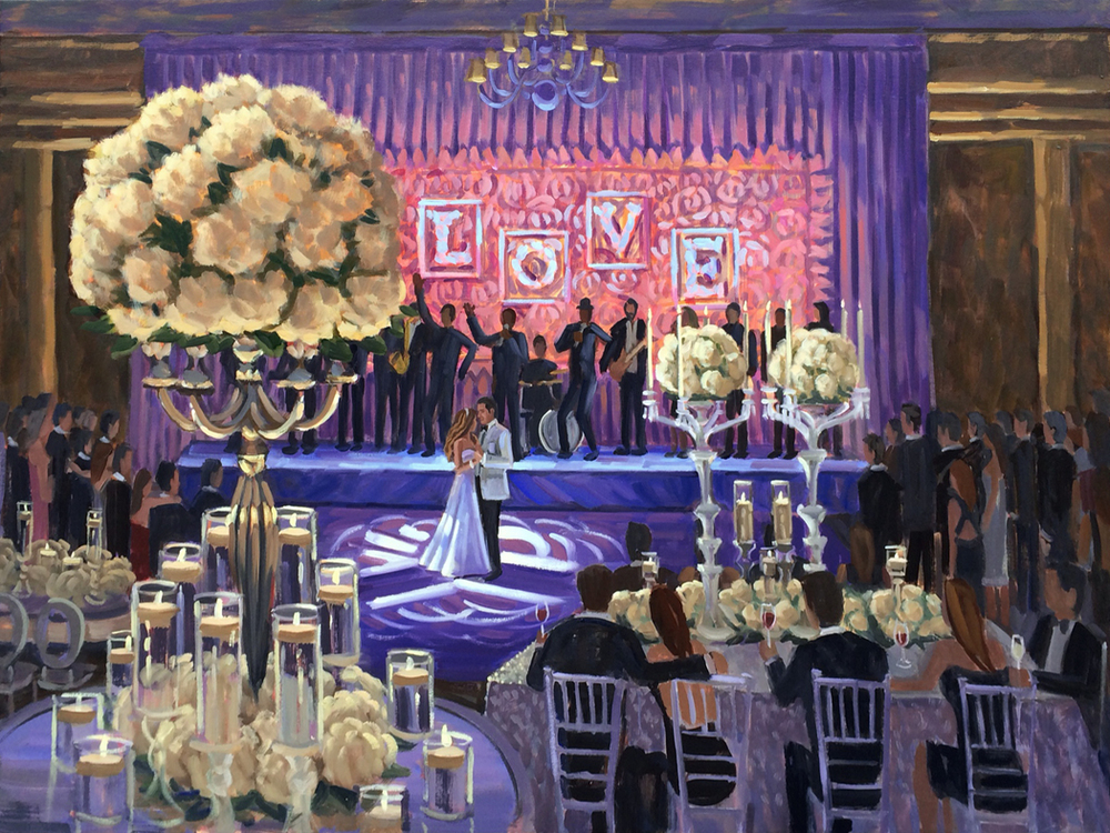Live Wedding Painting | The Breakers, Palm Beach, Florida