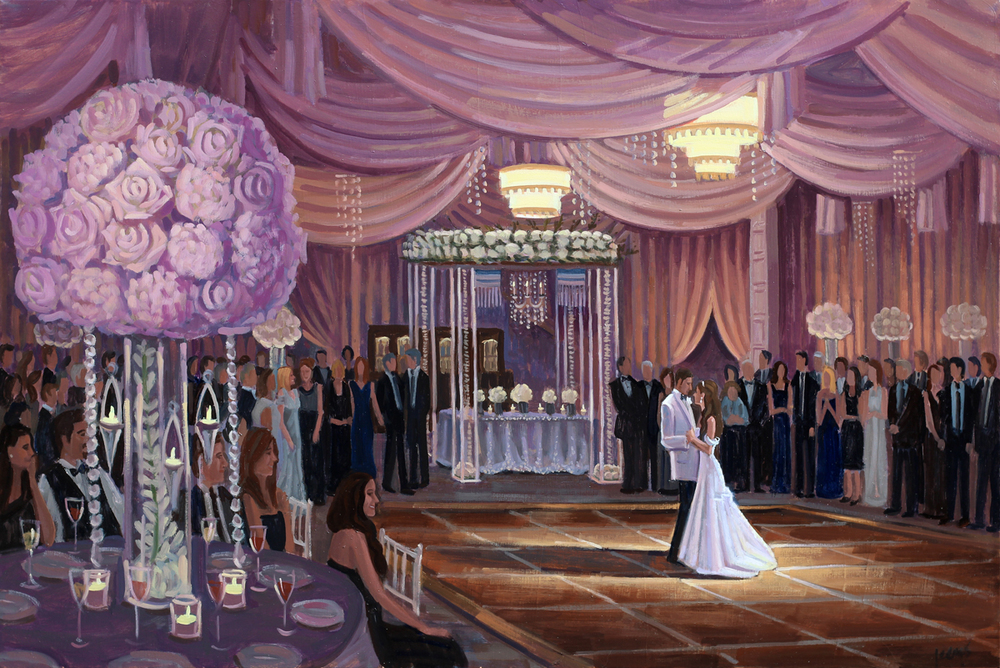 Jamie and Michael — Wed on Canvas : Live Event and Wedding Painting