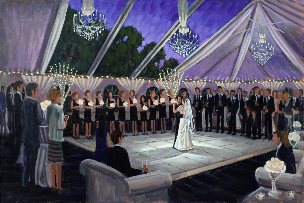 Pinecrest Country Club | Live Wedding Painting