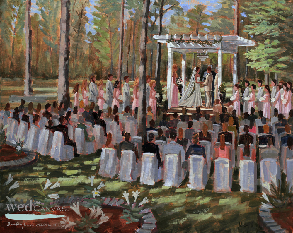 wedding painter charleston wed on canvas painting live