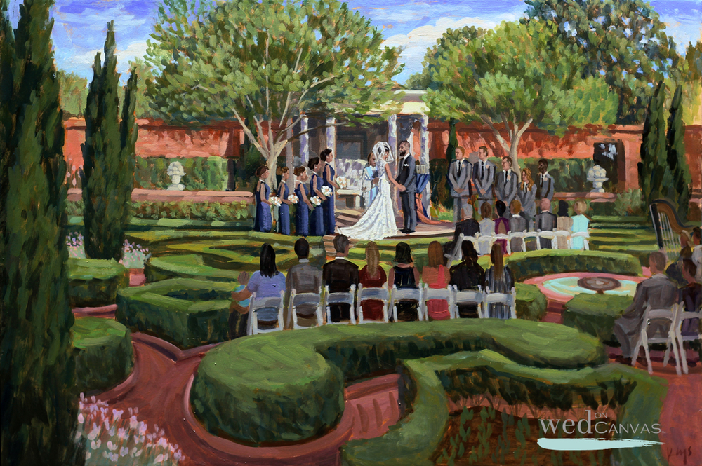 Christina + Jason | 24 x 30 in. | Live Wedding Paintnig