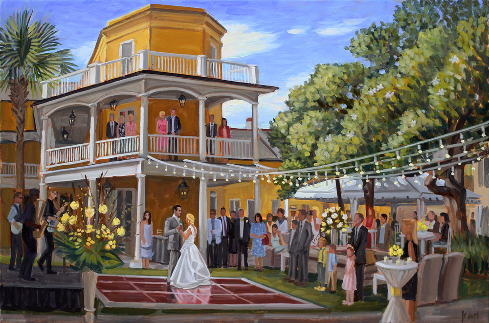 Live Wedding Painting at William Aiken House, Charleston
