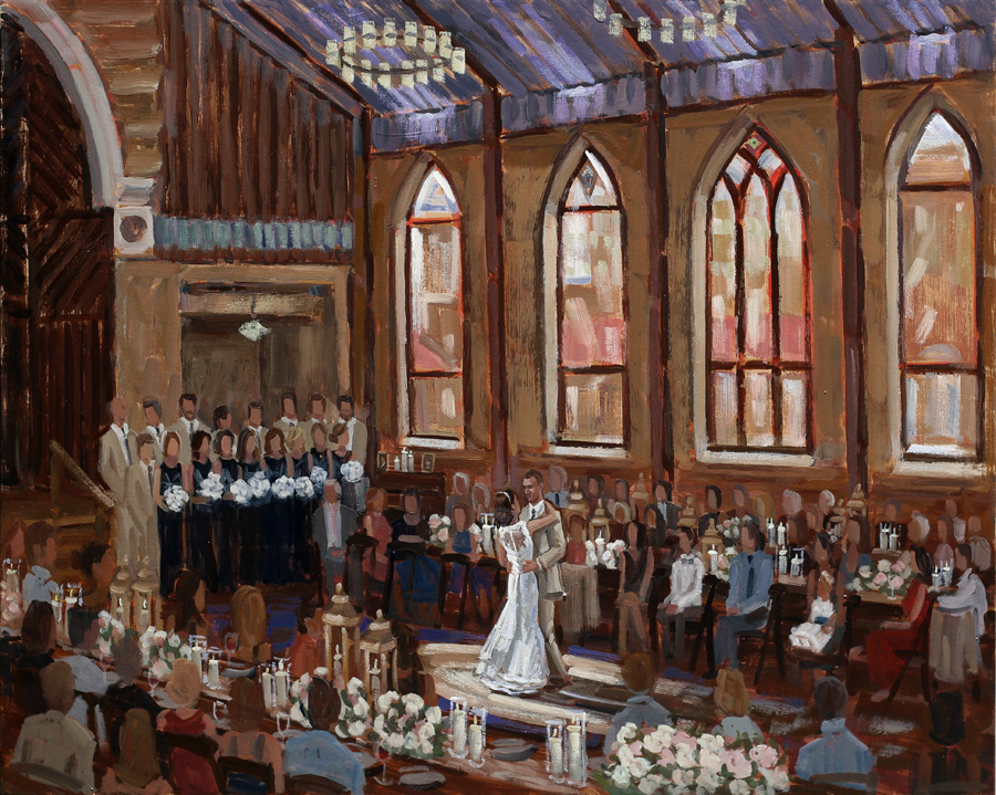 Brooklyn Arts Center | Live Wedding Painting