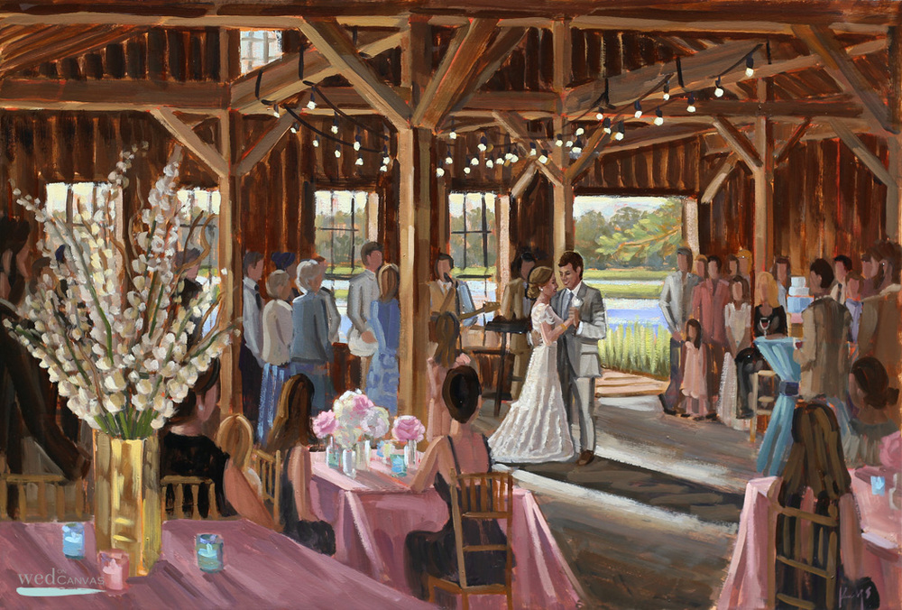 Boone Hall Plantation | Live Wedding Painting | 24 x 36 in. | Oil on Canvas