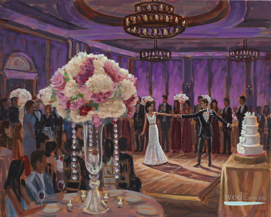 Jenny + Erik | 24 x 30 in. Live Wedding Painting at the Salamander Resort