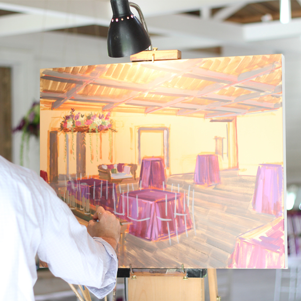 Live Wedding Painter, Ben Keys of Wed on Canvas | Photo by Jen Keys