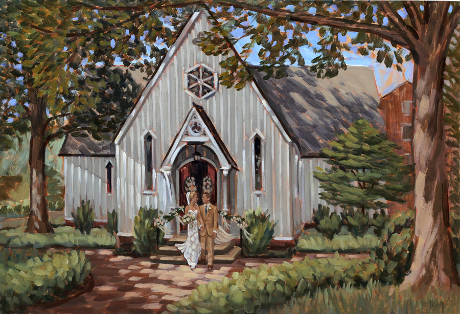 Raleigh Live Wedding Painting