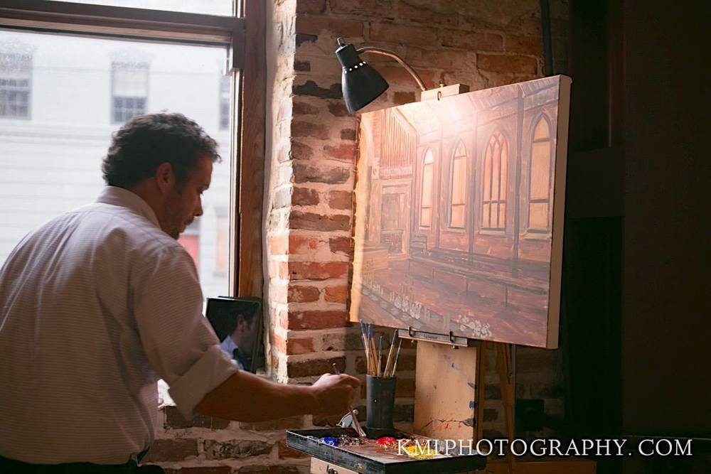 live-wedding-painting-by-wedding-artist-ben-keys-of-wed-on-canvas