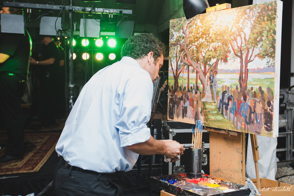 Live Wedding Painter, Ben Keys of Wed on Canvas