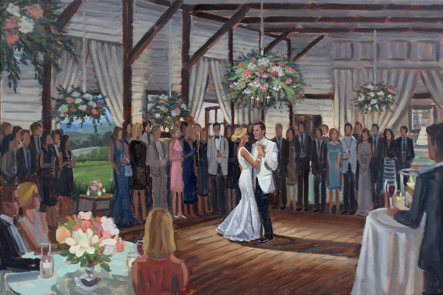 Live Wedding Painting at Pippin Hill Farm + Vineyard
