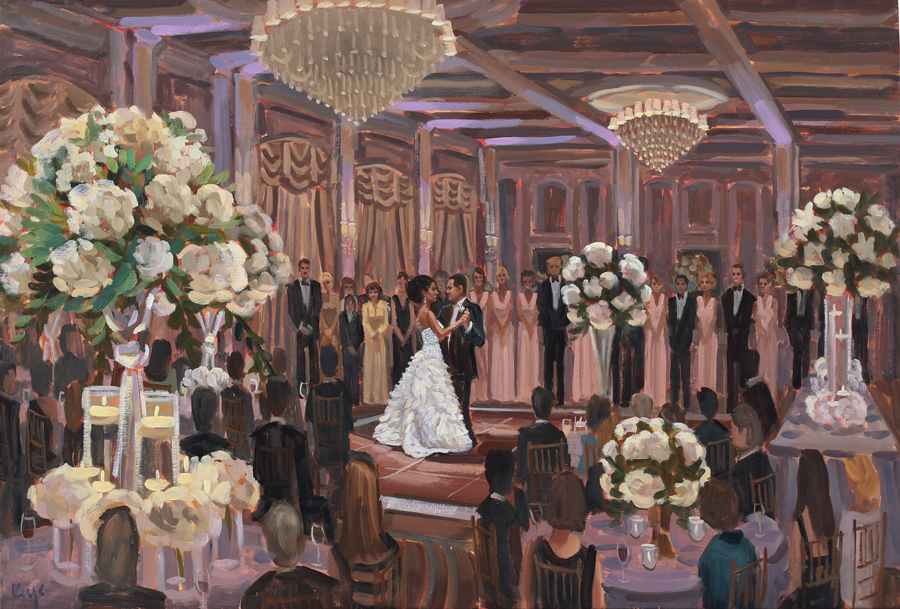Live Wedding Painting at Prestonwood Country Club