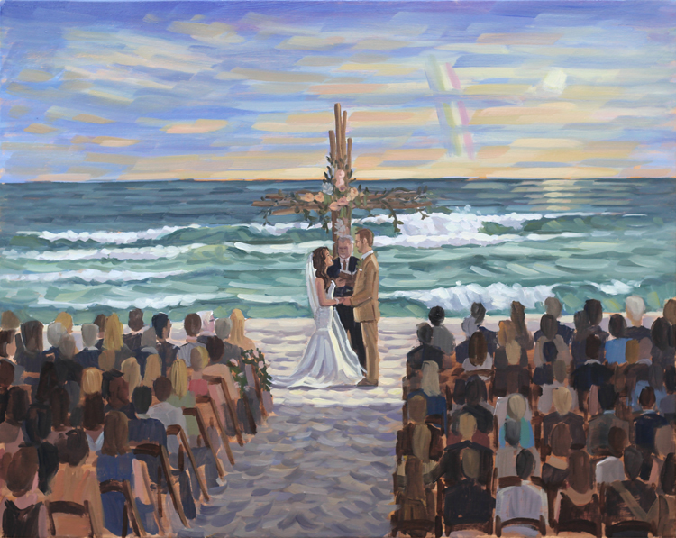 Live Wedding Painting at Alys Beach, Florida