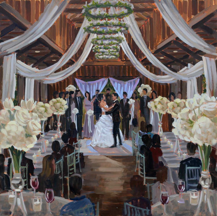 Live Wedding Painting at Magnolia Plantation, Charleston, SC