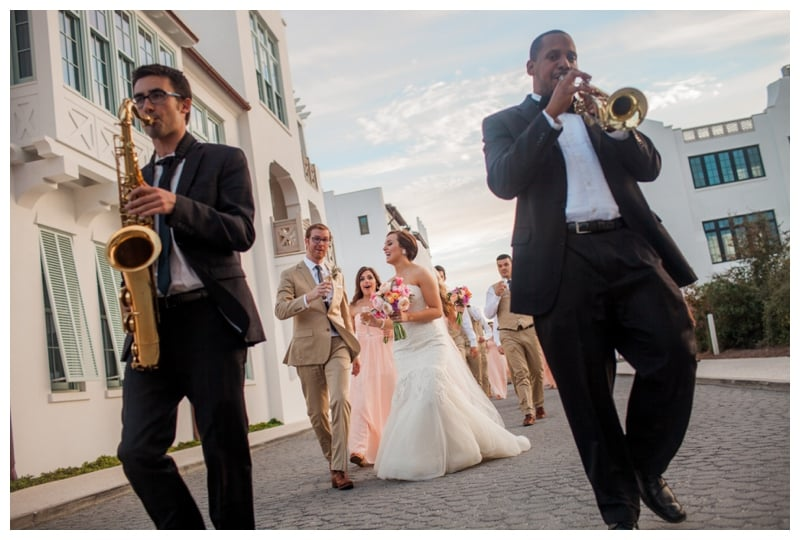 champagne-recessional-to-alys-beach-wedding-reception