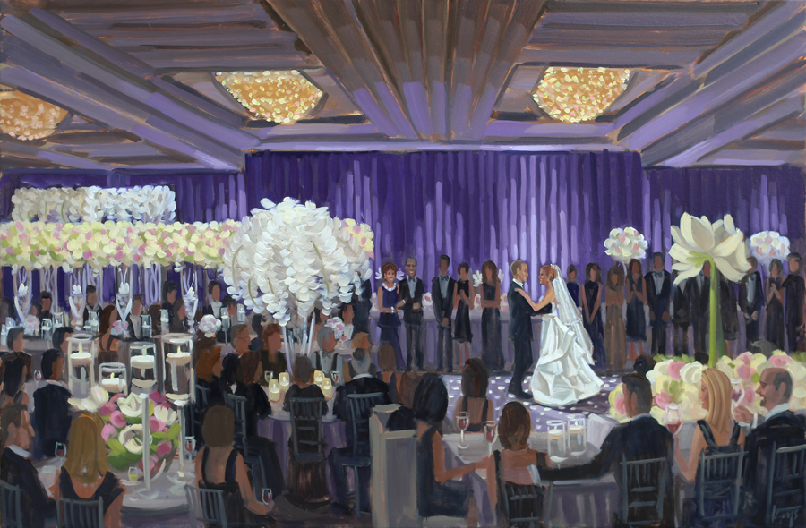 Live Wedding Painting at The Ritz Carlton Buckhead in Atlanta, Georgia