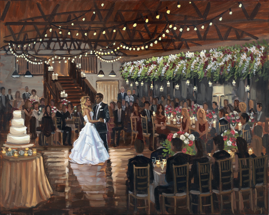 Live Wedding Painting at Summerour Studio in Atlanta, Georgia