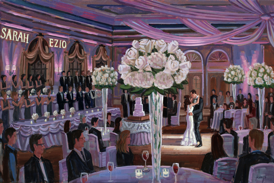 Live Wedding Painting at Chicago's Vinuti's Ristorante