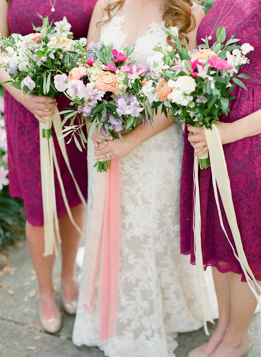 fuchsia-bridesmaids-dresses-coral-and-fuchsia-bouquet