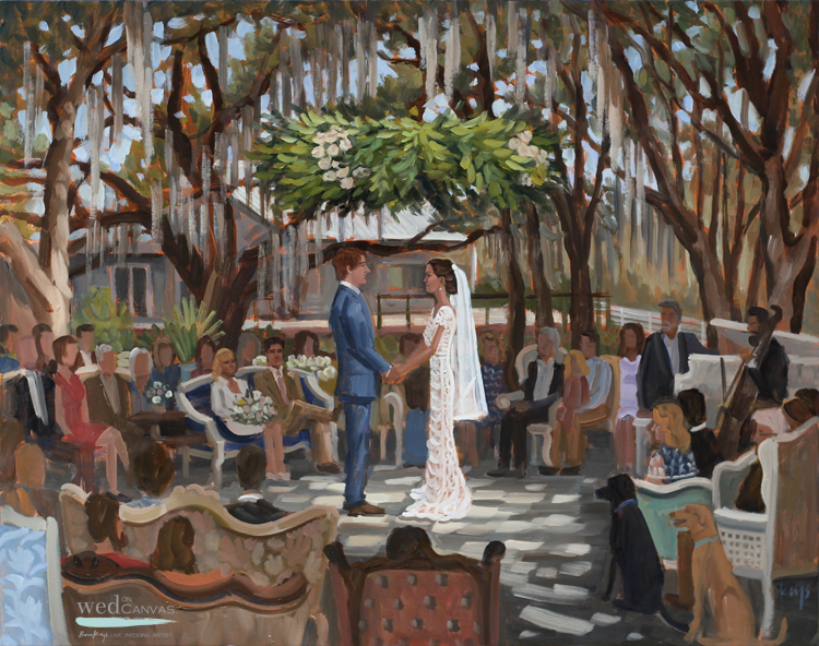 live-wedding-painter-florida-up-the-creek-farms-wedding