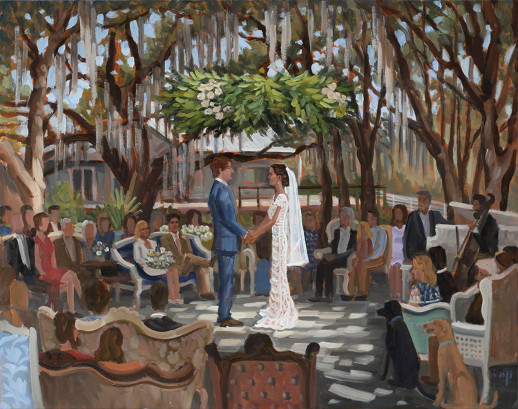 Live Wedding Painting | Up the Creek Farms, Melbourne, Florida