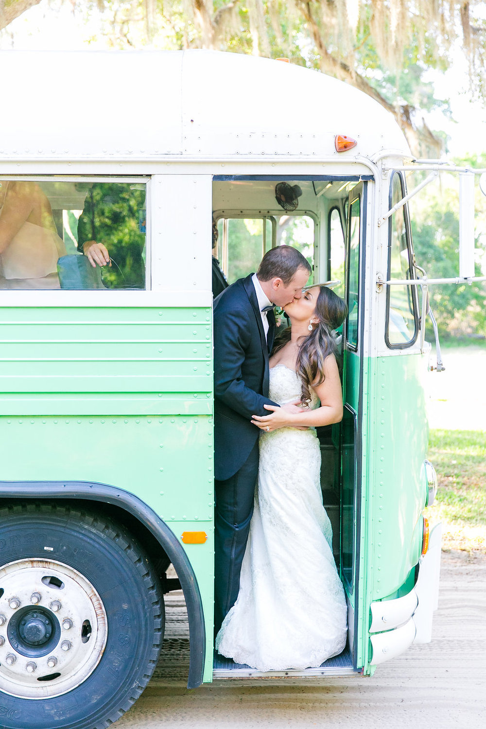 vintage-mint-bus-for-guest-transportation-charleston-wedding