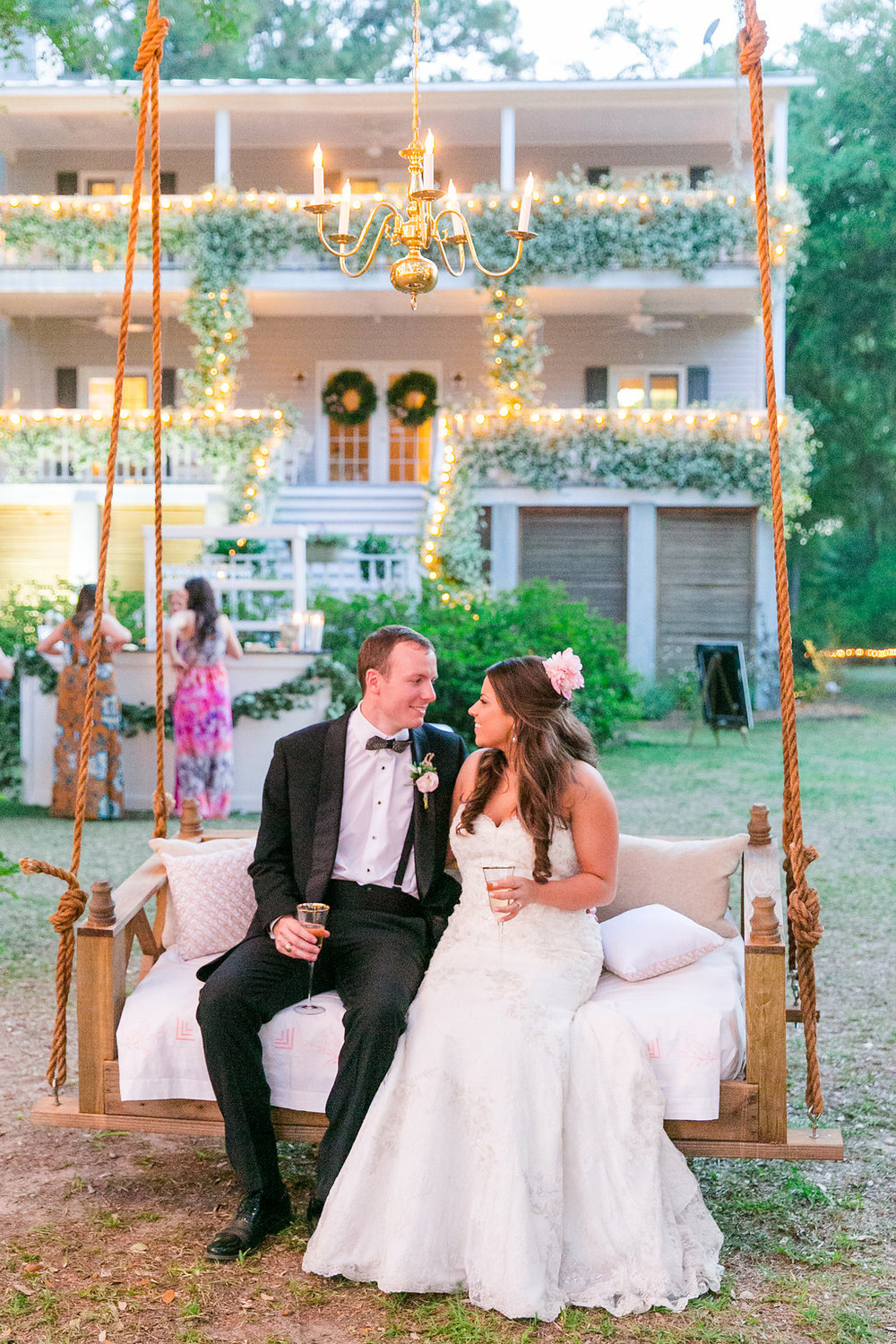 charleston-sc-wedding-reception-swing-for-bride-and-groom