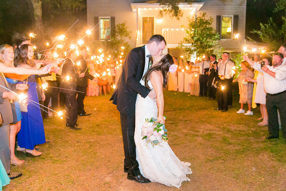 champagne-and-sparkler-exit-southern-wedding-charleston