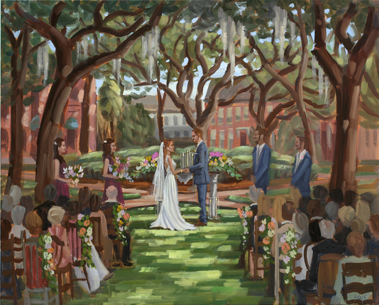 Live Wedding Painting | Savannah, Georgia