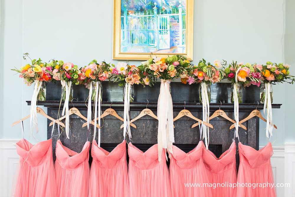 coral-bridesmaids-dresses-and-colorful-bouquets-charleston-wedding
