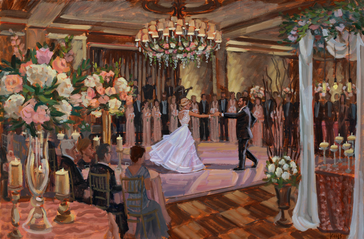 Live Wedding Painting | The Westin, Savannah, GA