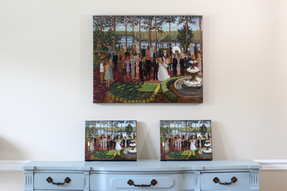 live-wedding-painting-pinehurst-nc-country-club