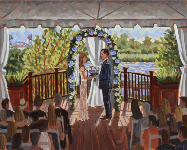 Live Wedding Painting | 128 South, Wilmington, NC