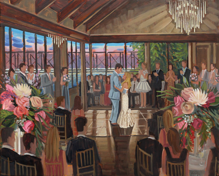 Live Wedding Painting | Lambertville Station Inn, Lambertville, NJ