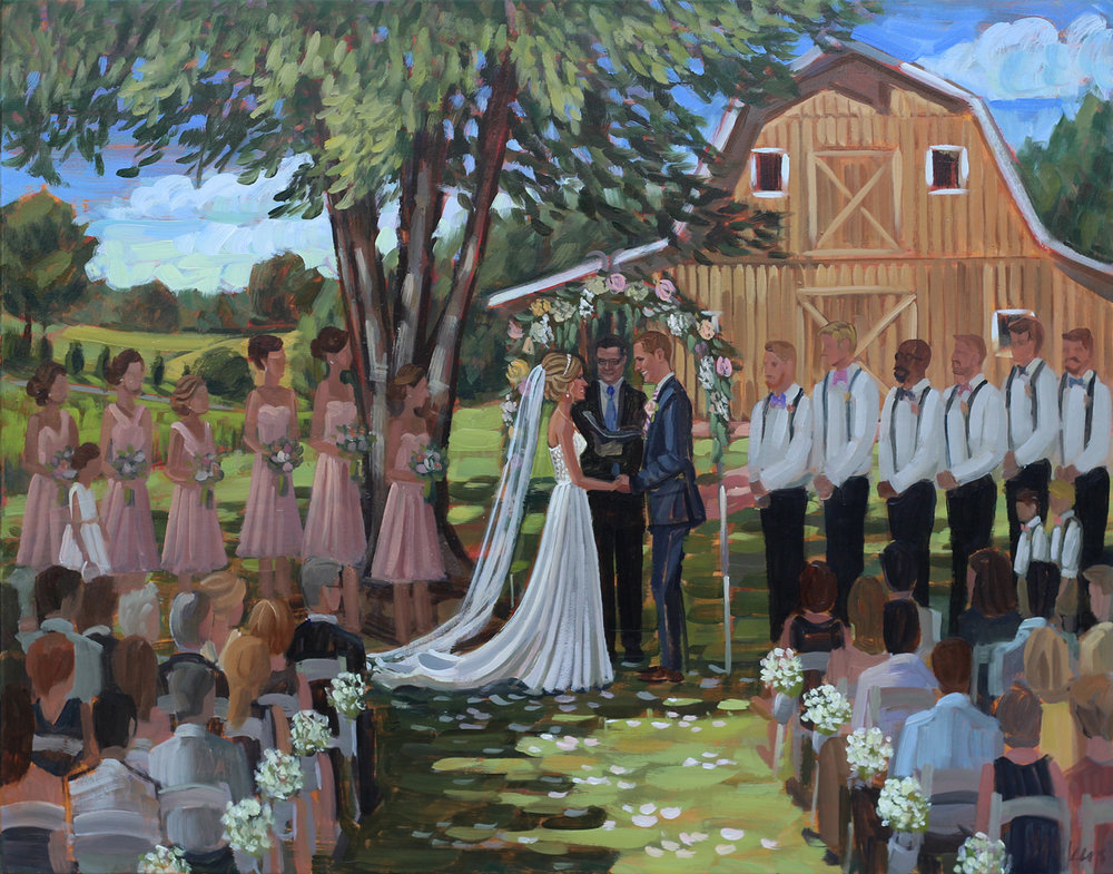 Live Wedding Painting | Fairview Farms, Richmond, VA