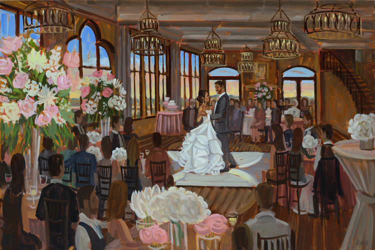 Live Wedding Painting | The Pinery, Colorado Springs, CO