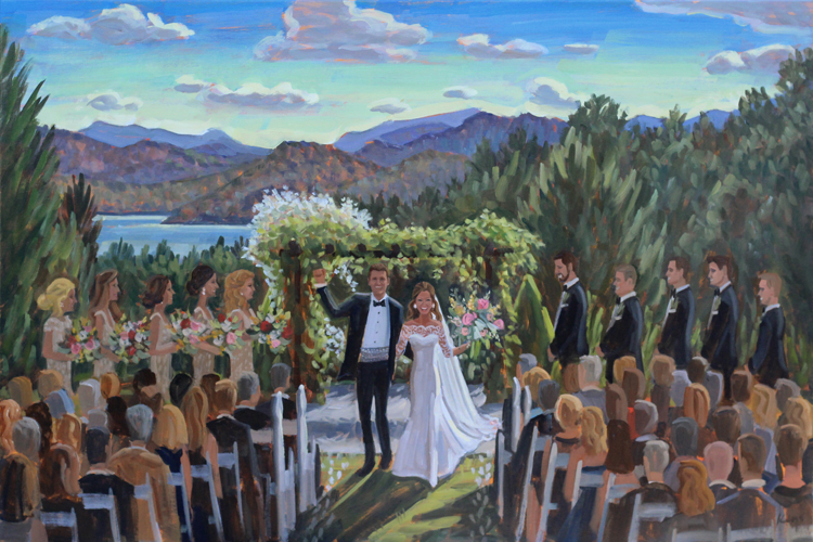 Live Wedding Painting | Sawyer Family Farmstead, Cashiers, NC
