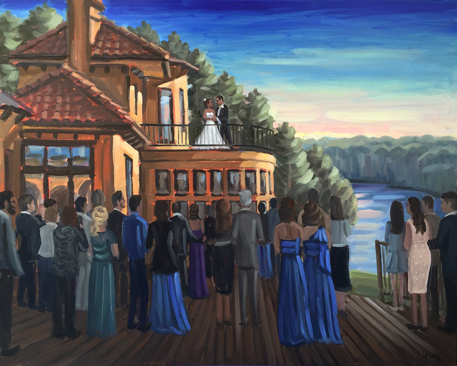 Live Wedding Painting | Bella Collina Mansion, Greensboro, NC