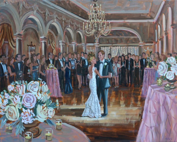 Live Wedding Painting | Piedmont Driving Club, Atlanta, GA